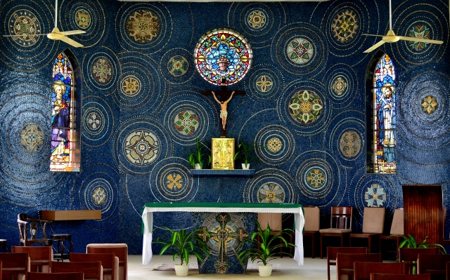 The mosaic in our seminary chapel.jpg